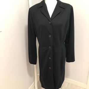 New York & Co jacket long trench black